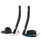 QUNLON Kitesurf Stunt Kite Vertical Control Bar - Black (2 PCS)