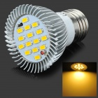 E27 7.5W 3500K 720lm 15-LED Warm White Light Bulb - Silver + Yellow (AC 85~265V)