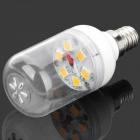 SENCART E12 3W 6500K 270lm SMD 5060 6-LED White Light Bulb - White + Transparent (AC 85 ~ 265V)