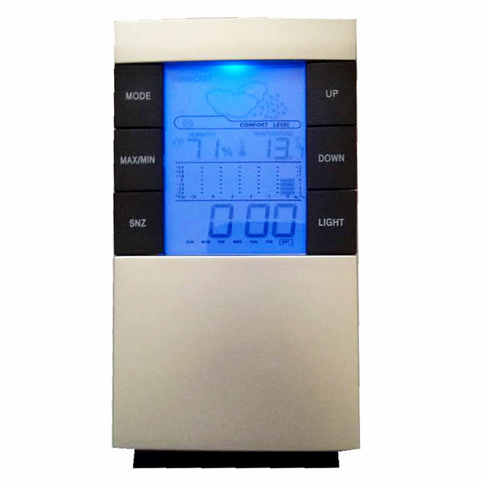 "2.7"" LCD Luminous Weather Forecast Thermometer + Hygrometer"