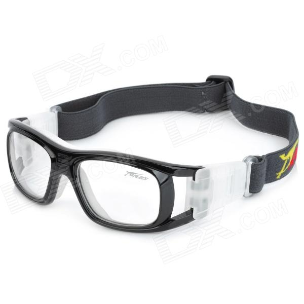 PANLEES JH823 Man's Anti-Shock Outdoor Sports Goggles w/ Flexible Band - Black