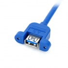 USB 3.0 Male to Female Extension Cable w/ Fixing Screw Hole - Blue (60cm)