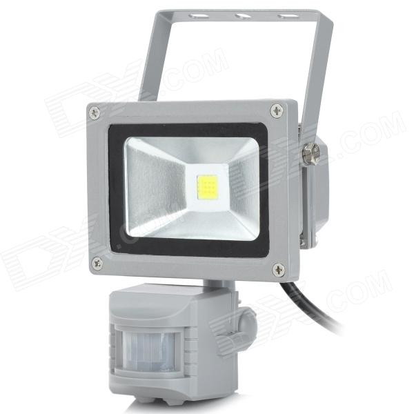 где купить  10W 6500K 800lm 1-LED White Light Automatic Body Infrared Induction Lamp - Grey  дешево