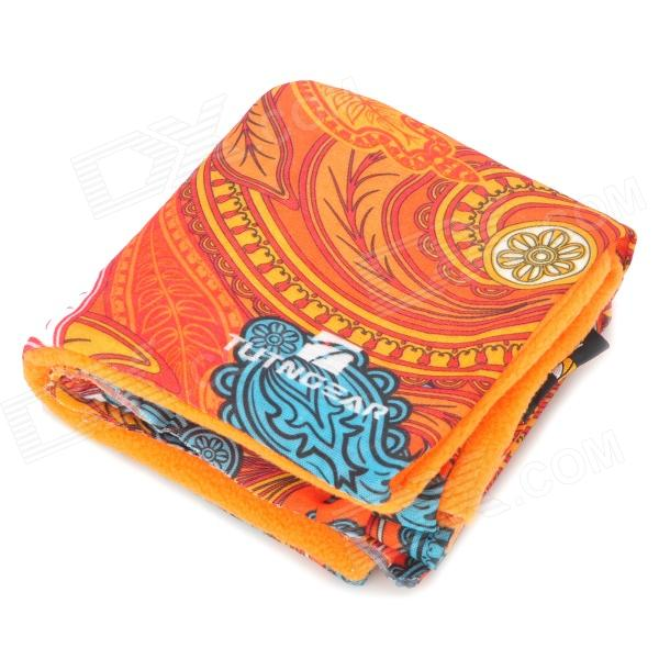 Fashionable Pattern Multi-Function Outdoor Cycling Seamless Head Scarf - Orange + Blue