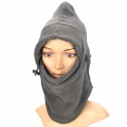 Multi-Functional Fleeces Fabrics Neck Warmer Mask Scarf - Grey