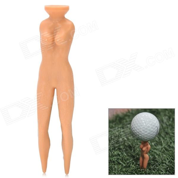 Sexy Women Multifunction Golf Tee - Light Brown simulation mini golf course display toy set with golf club ball flag