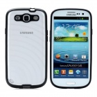 Newtons Edge Glow in the Dark Ripple Design Protective PC Back Cover Case for Samsung i9300 - Black
