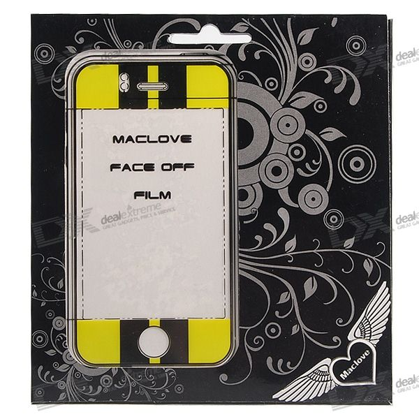 Textured Tattoo Screen Protector with Matching Downloadable Wallpaper for Iphone 3g