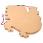 Cock Pattern Wooden Maze Educational Toys - Red
