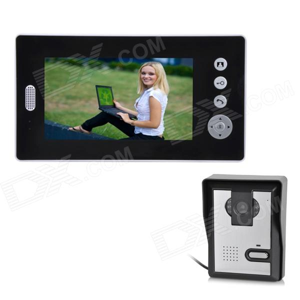 "CZ7-1 Wireless 7"" TFT LCD 300KP Digital Video Door Phone w/ 6-LED IR Night Vision - Black + White"