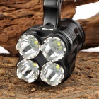 UltraFire UF-T90 2000lm 2-Mode Memory Crown Head Flashlight - Black (4 x 18650)