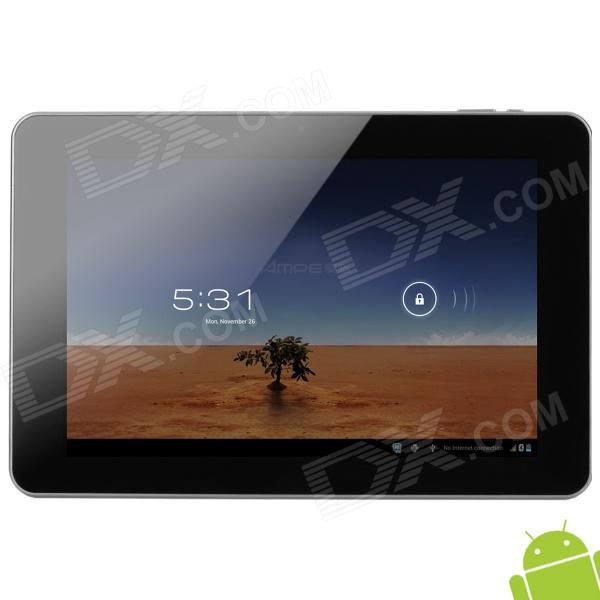 "AMPE A10 10.1"" Capacitive Screen Android 4.0 Quad Core Tablet PC w/ TF / Wi-Fi / Camera - Metal Grey"