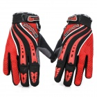 Outdoor Sports Motorcycle Bicycle Riding Full Fingers Gloves - Red + Black (Pair / Size M)