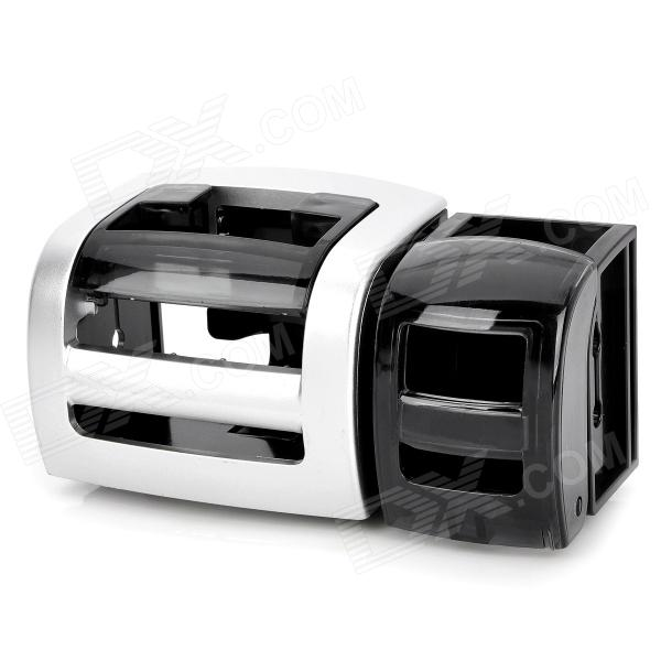 Multi-Function Folding Drink Holder - Silver + Black