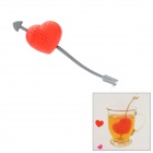 Cupid's Arrow Style Silicone Tea Filter Strainer - Red + grey