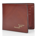 BOVIS 5102#01 Casual Man's PU Credit Name Card Wallet w/ Slots - Coffee