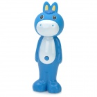 Animal Character Donkey Style Retractable Kids Soft Toothbrush - Blue + White