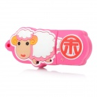 Chinese Zodiac Sheep Style USB 2.0 Flash Drive - Pink + White (4GB)