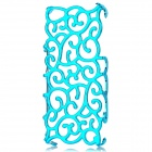 Palace Flower Pattern Protective Hollow-Out Plastic Case for Iphone 5 - Skyblue