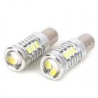 1157 7.5W 700lm 15-SMD 5630 LED White Light Car Brake Lamp with Lens (12V / 2 PCS)