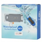 Mini Waterproof MP3 Player w/ FM Radio - Black + White (4GB)