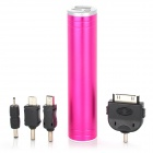 2200mAh Mobile Power Battery Charger w / White Light Flash Light - Deep Pink