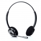 AX-647 Bluetooth V2.1+EDR Stereo Headphones w/ Microphone - Black + Silver Grey