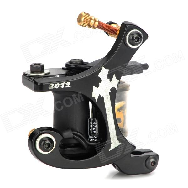 Cast Iron Alloy Tattoo Machine Liner Shader Gun - Black + Yellow solong tattoo professional power supply tattoo black tattoo digital lcd design stable dual machine foot switch pedal cast iron