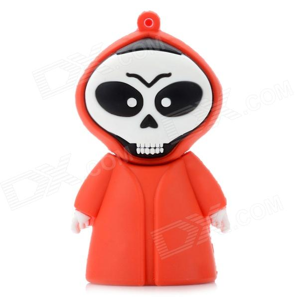 Creative Cartoon Skull Style USB 2.0 Flash Drive - Red + White + Black (8GB) skull style usb 2 0 flash drive disk khaki red 4gb
