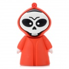 Creative Cartoon Skull Style USB 2.0 Flash Drive - Red + White + Black (8GB)