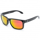 OREKA WG009 Retro Resin Lens TR90 Frame UV Protection Sunglasses Goggles - Black