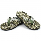 Men's Acupressure Massager Slippers - Army Green (Size XL)