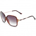 Lady's Modern UV-Sunglass - Black + Dark Brown