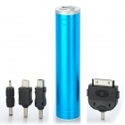 2200mAh Mobile Power Battery Charger w / White Light Flash Light - Blue