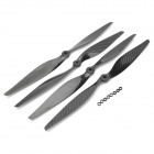 1470 14X7 Carbon Fiber Propellers for Multi-axis Aircraft - Black (2 Pairs)