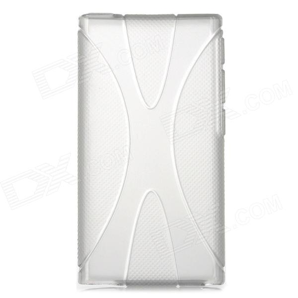 X Pattern Protective TPU Case for Ipod Nano 7 - Translucent Grey