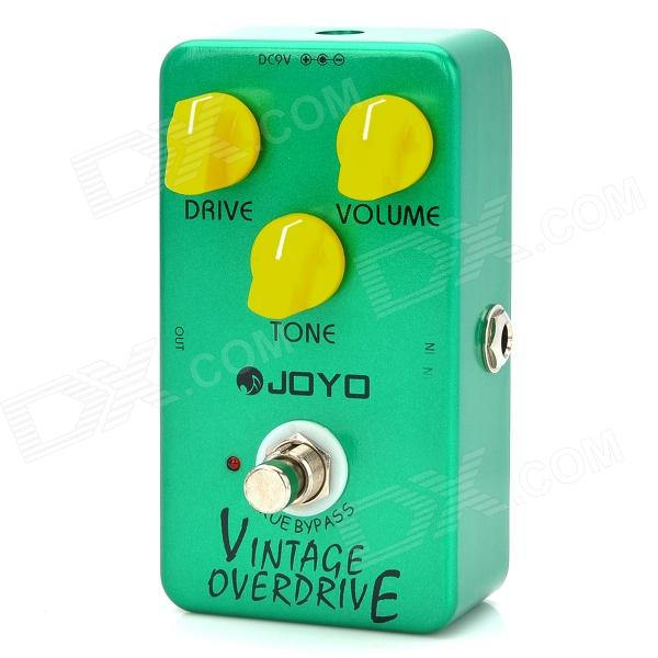 JOYO JF-01 Guitar Vomtage Overdrive Effect Pedal - Green + Yellow (1 x 9V 6F22) new nux drive core stomp boxes core series overdrive core true bypass guitar effect pedals 1 pc pedal connector
