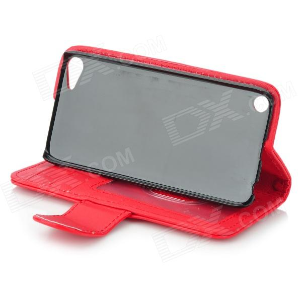 Housse en cuir pu flip open protectrice pour ipod touch 5 for Housse protectrice