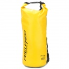 Outdoor Sports Folding PVC Water Resistant Dry Bag - Yellow (10L)