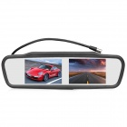"4,3 ""TFT LCD Dual-Screen Car Rearview Monitor de Set w / 4-puerto de entrada de vídeo - Negro"
