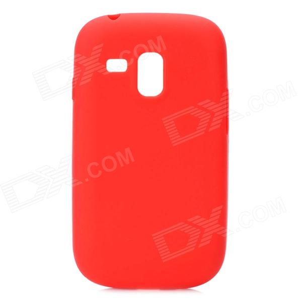Protective Silicone Case for Samsung i8190 Galaxy S3 Mini - Red