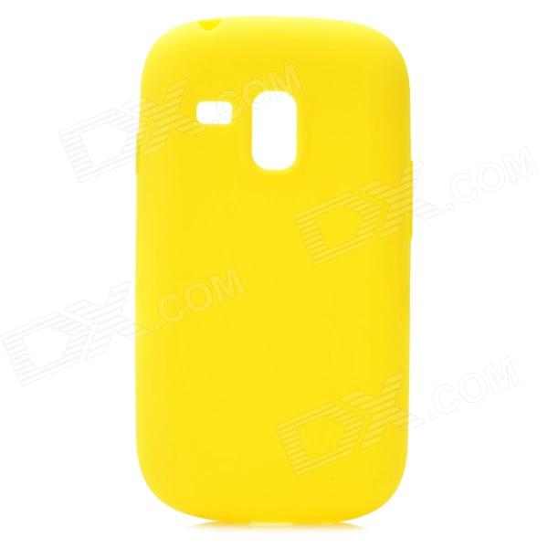 Protective Silicone Case for Samsung i8190 Galaxy S3 Mini - Yellow stylish protective back case for samsung i8190 galaxy s3 mini yellow translucent