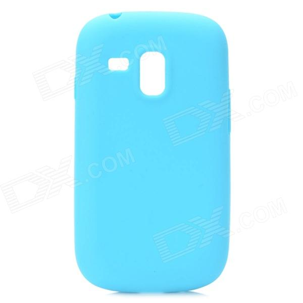 Protective Silicone Case for Samsung i8190 Galaxy S3 Mini - Blue