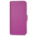 Protective PU Leather + Plastic Case w/ Card Slots for Iphone 5 - Purple