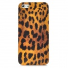Leopard Pattern Protective Plastic Back Case w/ Screen Protector Set for Iphone 5 - Black + Yellow
