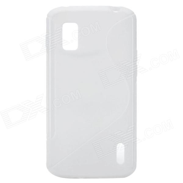 S Pattern Protective TPU Case for Google Nexus 4 E960 - White