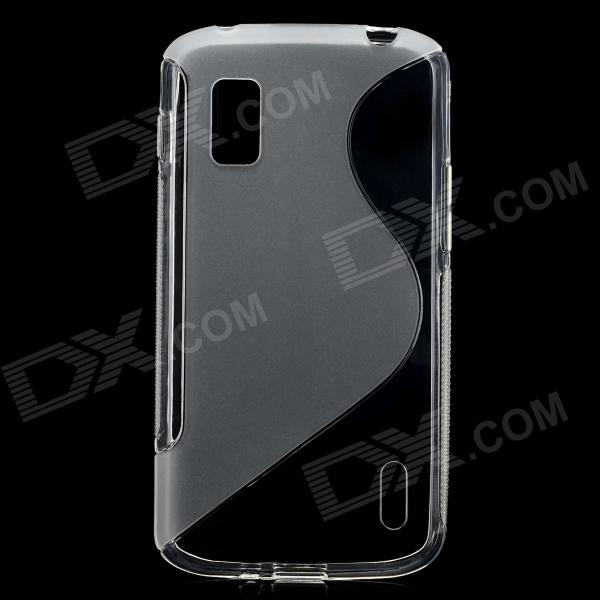 S Pattern Protective Plastic Case for Google Nexus 4 E960 - Translucent White