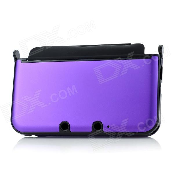 Protective Aluminum + Plastic Case for Nintendo 3DS XL / 3DS LL - Purple goigame protective clear screen protectors guard set for nintendo 3ds xl