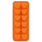 SI87004 12-Cube Heart-Shaped Cake Maker DIY Mould Tray - Orange