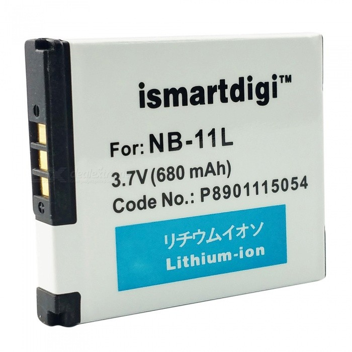 Ismartdigi NB-11L Replacement 3.7V 680mAh Battery Pack for Canon A4000 IS ELPH 110 HS + More - White ismartdigi replacement li 50b 3 7v 920mah battery for olympus mju tough tg 160 more